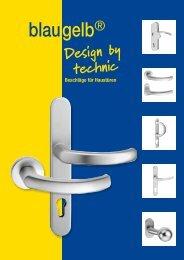 Design by technic Beschläge für Haustüren - gb Meesenburg OHG