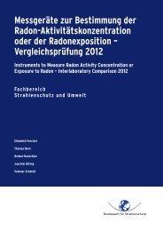Vergleichsprüfung 2012 - DORIS - Bundesamt für Strahlenschutz