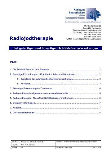 Radiojodtherapie - Klinikum Saarbrücken