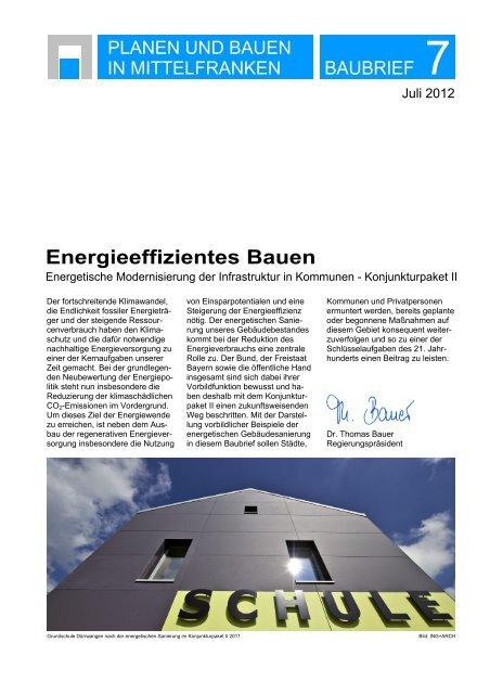 Baubrief 7 - Regierung von Mittelfranken - Bayern