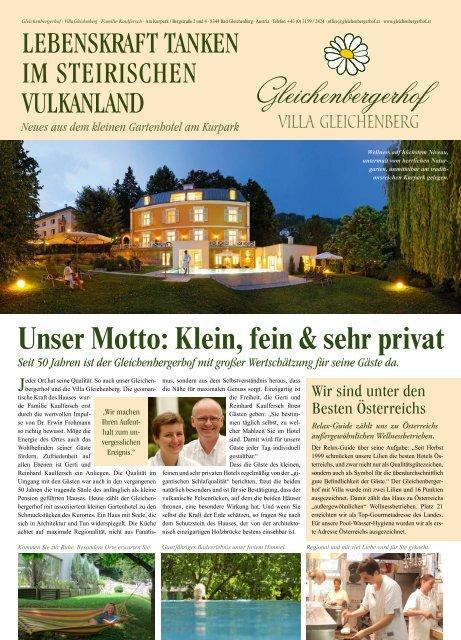 Unser Motto: Klein, fein & sehr privat - Relax Guide