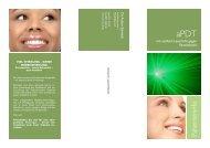 Info-Flyer apdT Parodontitis - Zahnarzt Dr. Achim Schmidt - Bayreuth