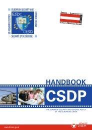 Handbook on CSDP - Europa