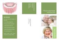 Info-Flyer Miniimplantate - Zahnarzt Dr. Achim Schmidt - Bayreuth
