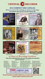 2012 compact disc catalog - All Things Musical