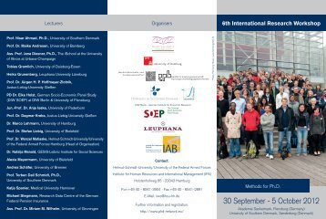 6th International Research Workshop 30. September - 5 ... - iab