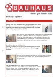Workshop: Tapezieren