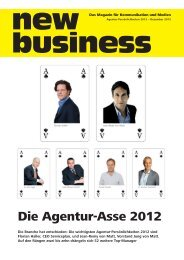 Die Agentur-Asse 2012 - New Business