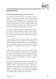 PRESSEMITTEILUNG - Cluster Druck und Printmedien