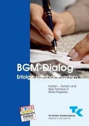 BGM-Dialog – Erfolge sichtbar machen - Techniker Krankenkasse