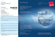 ver.di Stresstest - ICH BIN MEHR WERT