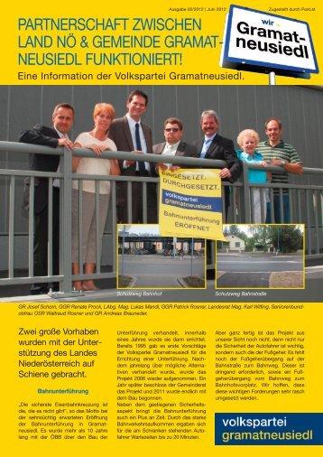 neusiedL funktioniert! - Gramatneusiedl - Volkspartei Niederösterreich