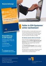 Fehler in EDV-Systemen sicher nachweisen! - Dr. Dieter Schedel