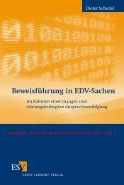 Leseprobe: Beweisführung in EDV-Sachen - Dr. Dieter Schedel