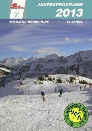 Jahresprogramm 2013 - und Wanderclub Horheim