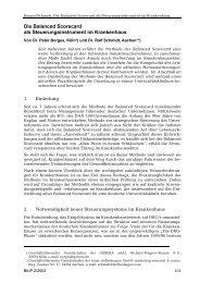 Die Balanced Scorecard als Steuerungsinstrument im ... - Gebera