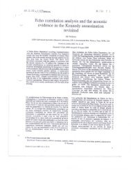 Echo correlation analysis and the acoustic evidence in the Kennedy ...