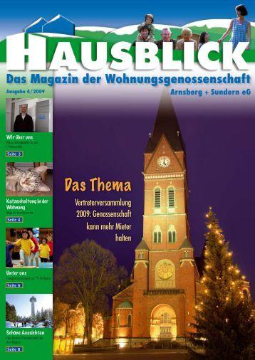 Das Thema - Arnsberger Wohnungsbaugenossenschaft eG