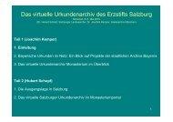 Das virtuelle Urkundenarchiv des Erzstifts Salzburg - Die Staatlichen ...