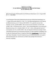 Wahlkreisvorschläge für den Wahlkreis Niederbayern zur Wahl des ...