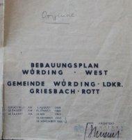 BEBAUUNGSPLAN WÜRDING - WEST - Gemeinde Bad Füssing
