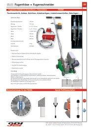 Elektrofugenschneider 300, 350, 400, 450 mm - GDI Diamant ...