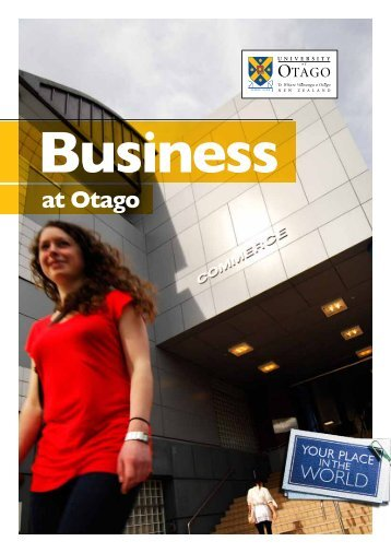 at Otago - School of Business, University of Otago, New Zealand ...