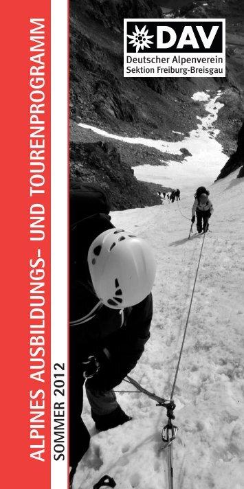 alpines ausbildungs- und tourenprogramm - Deutscher Alpenverein ...