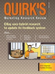 EBay uses hybrid research to update its feedback system - Quirk's ...