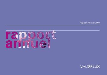 Rapport Annuel 2008 - Valorlux