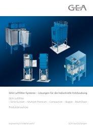 GEA Luftfilter-Systeme – Lösungen für die Industrielle Entstaubung ...