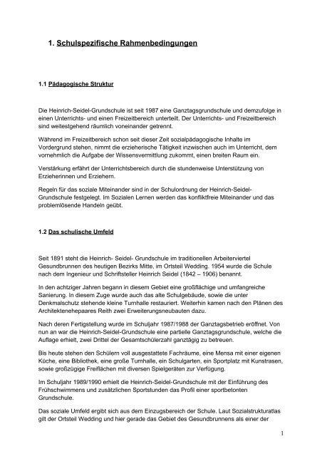 Zusammenfassung Alle Jahrgänge Heinrich Seidel Grundschule