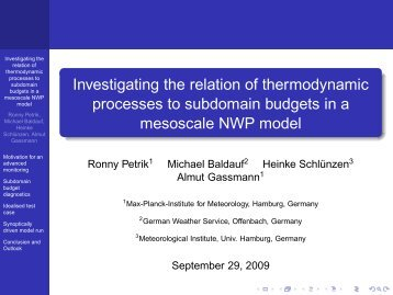 Investigating the relation of thermodynamic processes to subdomain ...