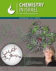 CHEMISTRY IN ISRAEL - Israel Chemical Society