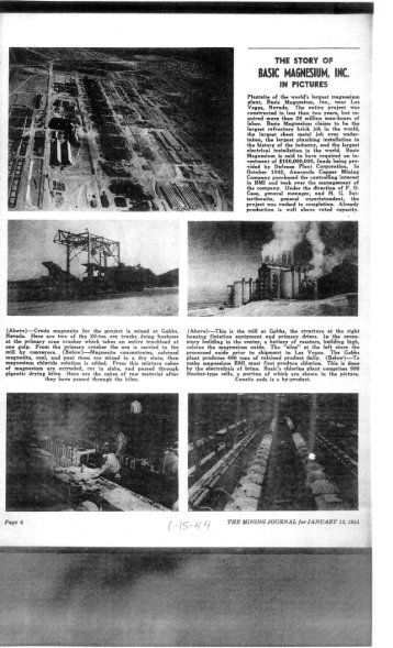 """Selected Articles from """"The Mining Journal"""" 1944 ... - Vredenburgh"""