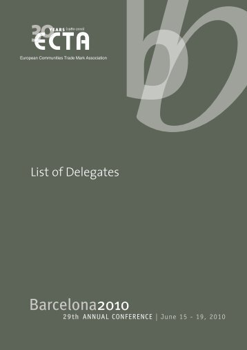 List of Delegates - ECTA