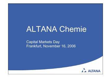 ALTANA Chemie - Altana AG