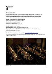 Dossier SCHWARZMARKT FÜR NÜTZLICHES ... - Biennale Bern