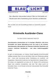 Kriminelle Ausländer-Clans - sifa - SICHERHEIT FÜR ALLE!