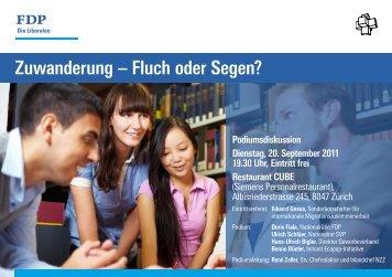 Flyer zum Anlass - Hans-Ulrich Bigler