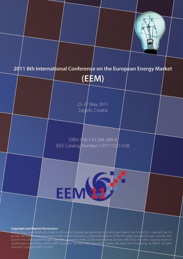 2011 8th International Conference on the European Energy Market