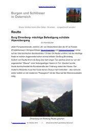Grundriss Burg Ehrenberg - Burgen-Web.de