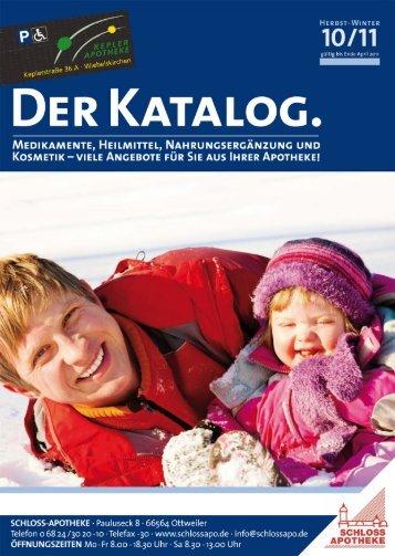 DER KATALOG. - Schloss Apotheke