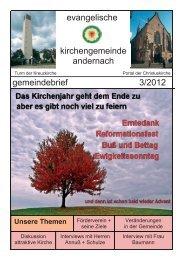 Gemeindebrief 3/2012 - Evangelische Kirche Andernach