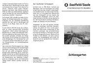 Der Saalfelder Schlosspark - WWW Saalfeld