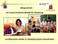 Bürgerarbeit – ein neues kreatives Modell für Altenburg ... - ABG-Net