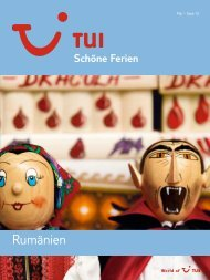 TUI - Schöne Ferien: Rumänien - Sommer 2010 - InfoTravel