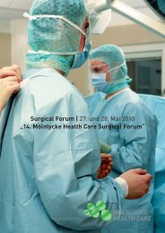 "Surgical Forum l 27. und 28. Mai 2010 ""14. Mölnlycke Health Care ..."
