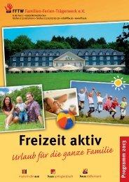 FFTW-Gesamtprogramm 2013 - Tagungshäuser im Erzbistum Köln