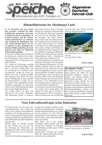 Himmelfahrtstour ins Altenburger Land Neue ... - ADFC